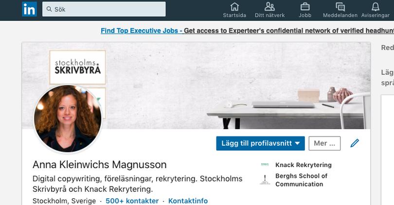 Fixa en bra LinkedIn-profil